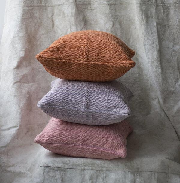 Cuttalossa & Co. Cotton Woven Pillow - Terracotta