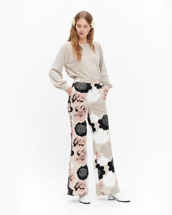 Marimekko Vilkaisu Pioni trousers