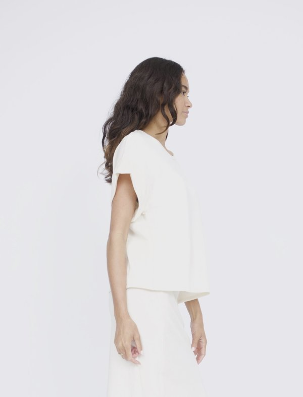 Corinne Collection Gracie Knit Top - Ivory