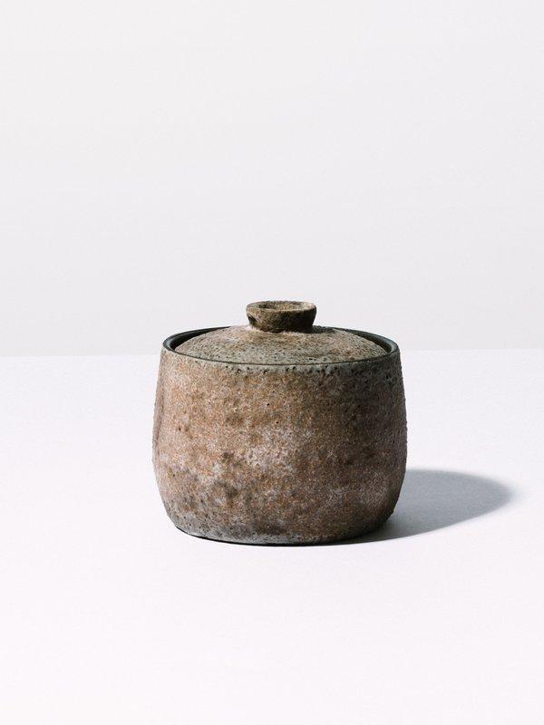 Nancy Kwon Dark Stoneware Container