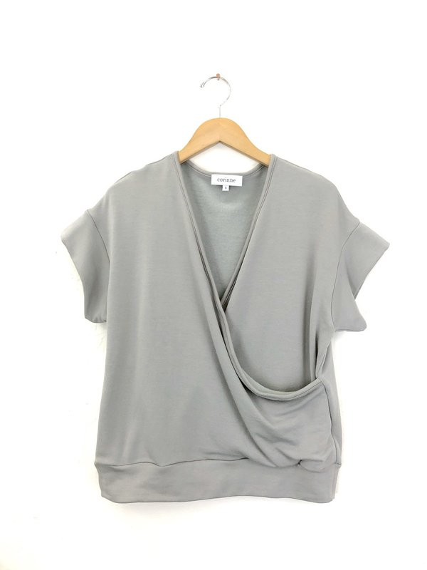 Corinne Collection Cooper Wrap Top - Stone