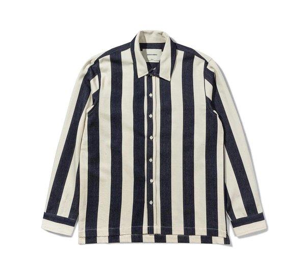 Native North Owen Striped Shirt Navy