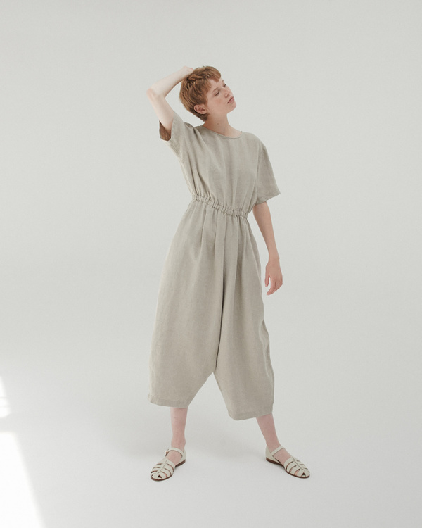 Monica Cordera Oversized Drawstring Jumpsuit