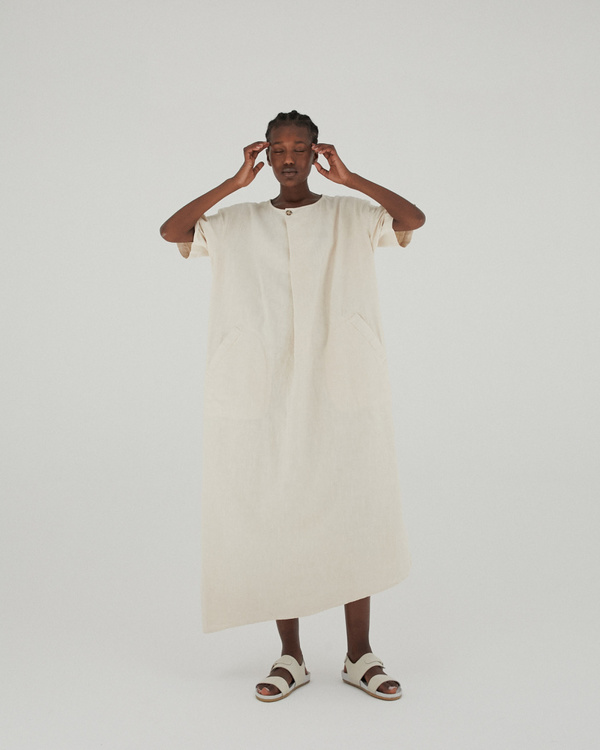 Monica Cordera Oversized Maxi Ramie Dress