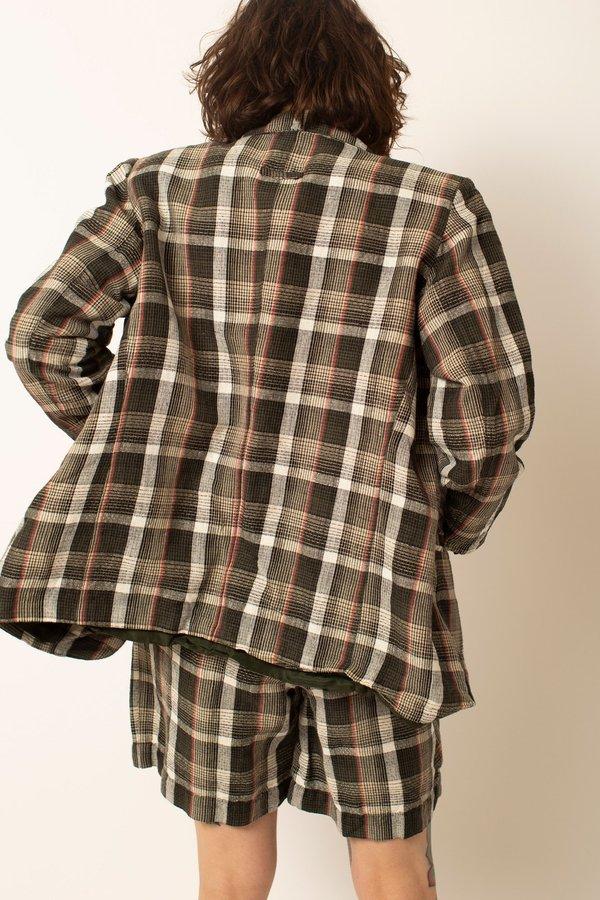 Preservation Vintage Blazer and Short Set - Black Plaid