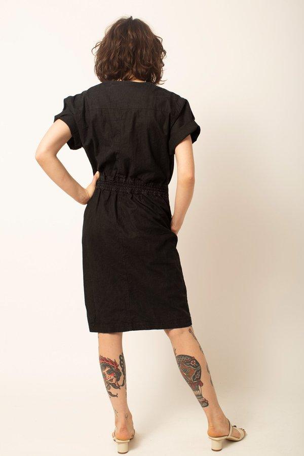 Preservation Vintage Short Sleeve Dress - Black