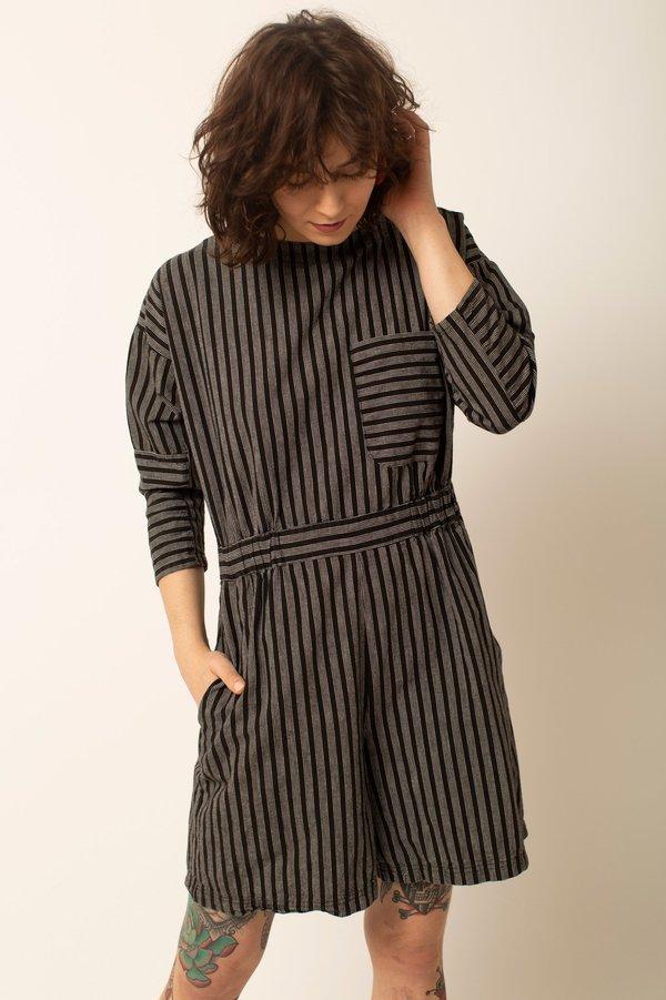 Preservation Vintage Striped Romper - Black