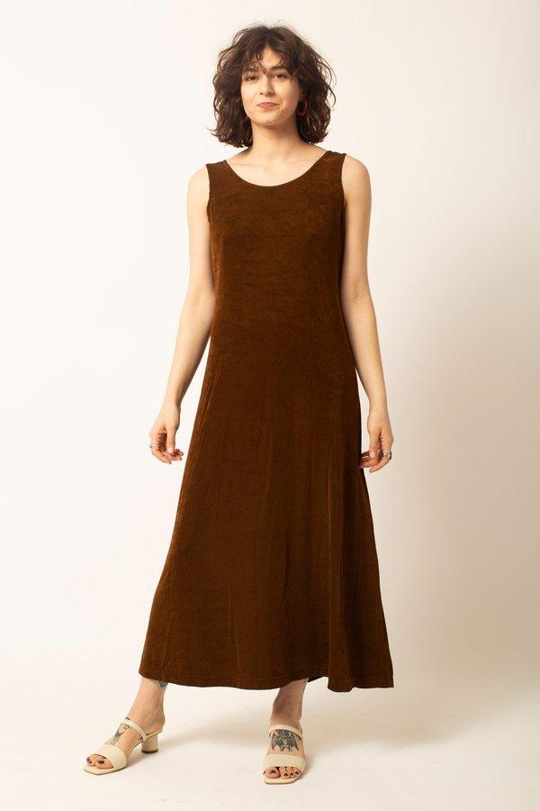 Preservation Vintage Midi Dress - Brown