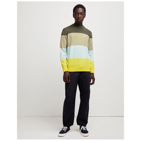 Maison Kitsuné rainbow stripes pullover Khaki Stripes