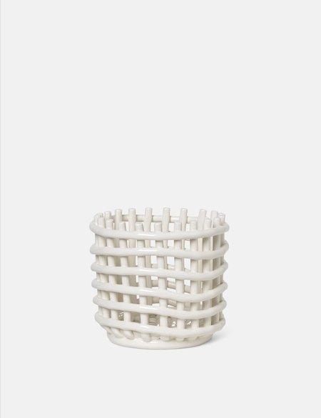 Ferm Living Small Ceramic Basket - Off White