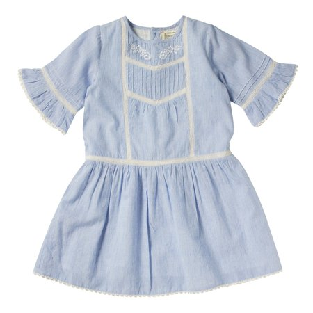 kids bonheur du jour lilou striped dress - blue