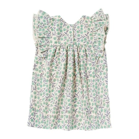 kids bonheur du jour lucile flowers dress - green