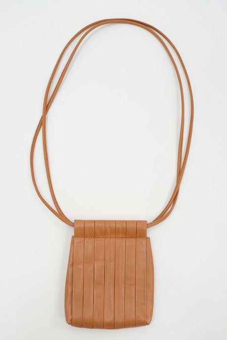 Beklina Pleated Bag - Dry Clay