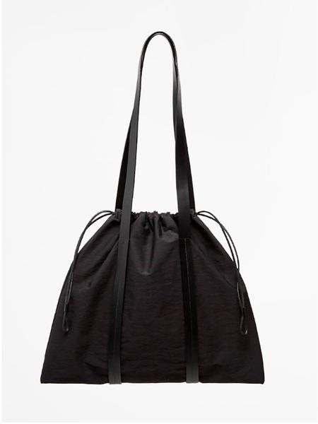 Building Block Drawstring Tote - Black