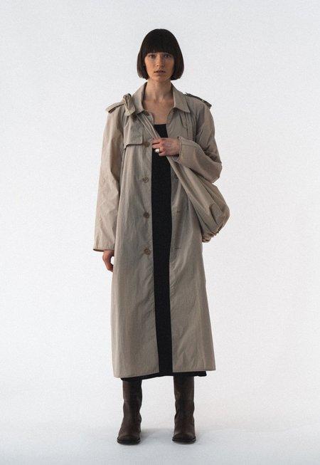 AMOMENTO Light Trench Coat - Khaki