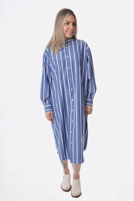 Nicholson and Nicholson Vivace Shirt Dress - Navy Stripe