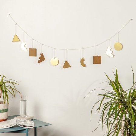Poketo Shapes Garland - Brass