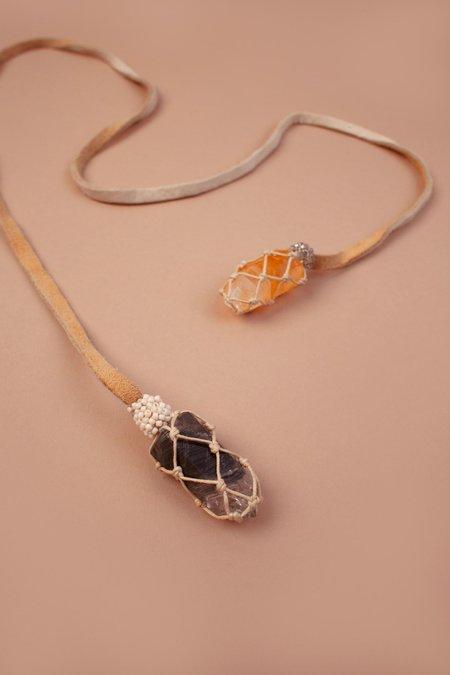 Jacki Holland Double Crystal Necklace