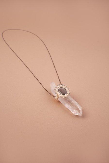 Jacki Holland Eye Crystal Necklace