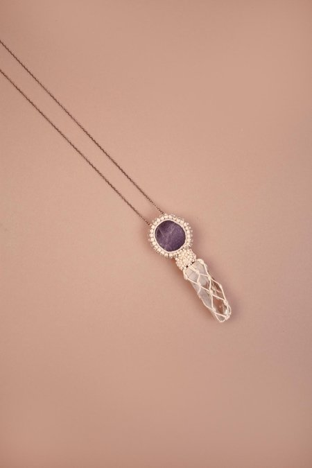 Jacki Holland Necklace With Purple Eye - Crystal