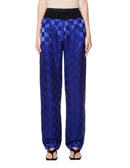 Haider Ackermann Linen Jaquard Trousers - Purple