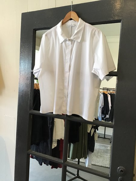 Bryn Walker Short Sleeve Cotton Blouse
