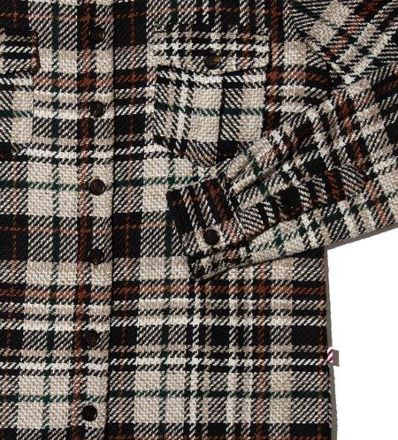 Freemans Sporting Club Overshirt - Black Plaid
