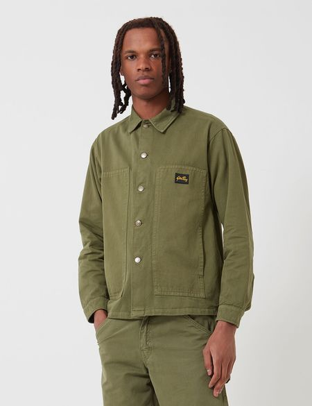 Stan Ray Overdyed Box Jacket - Olive Green