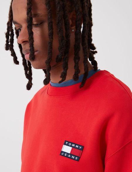 Tommy Hilfiger Tommy Jeans Badge Logo Sweatshirt - Deep Crimson