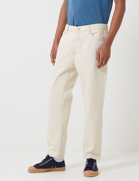 Tommy Hilfiger Straight Leg Dad Jeans - Work Ecru Rigid