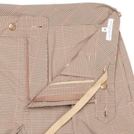 Engineered Garments Sunset Short - Khaki Nyco Mini Tattersall