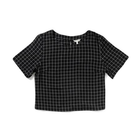 Bridge & Burn Leona Shirt - Black Windowpane
