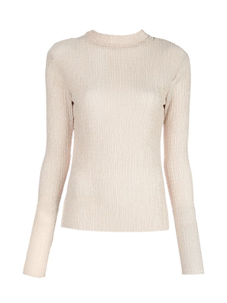 NOMIA Long Sleeve Knit Top - Wheat Color