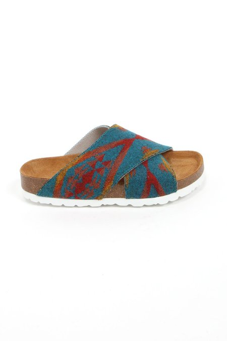 Magnafied Una Crossover Sandals - Turquoise