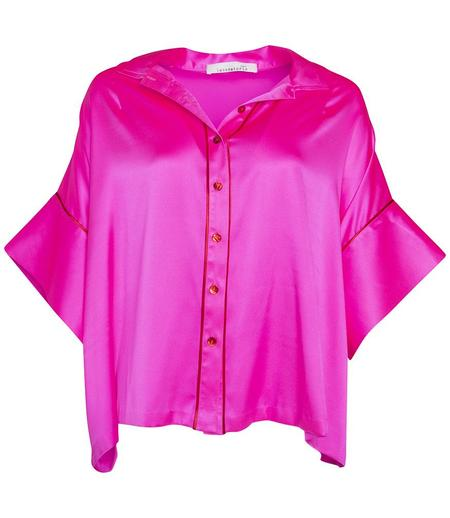 LABORATORIO CAPRI SILK WIDE OPEN SHIRT - FUCHSIA PINK