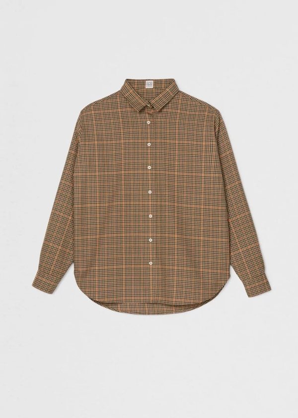 Totême CAPRI OVERSIZED SHIRT - CHECKED