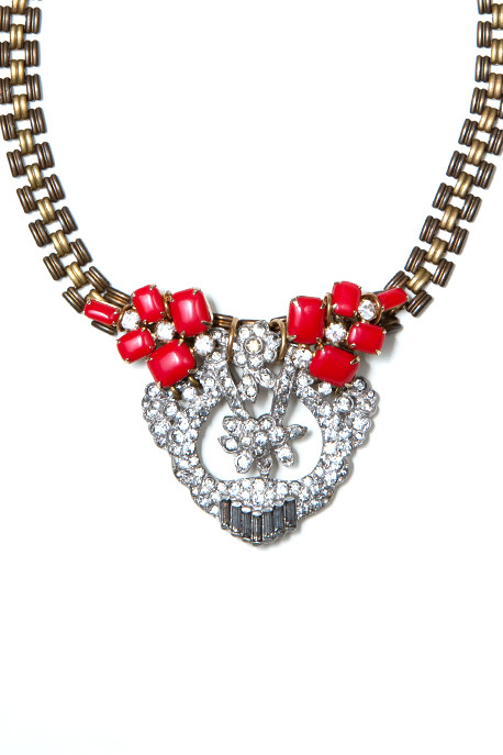 Lulu Frost 50 Year Necklace with Red Enamel