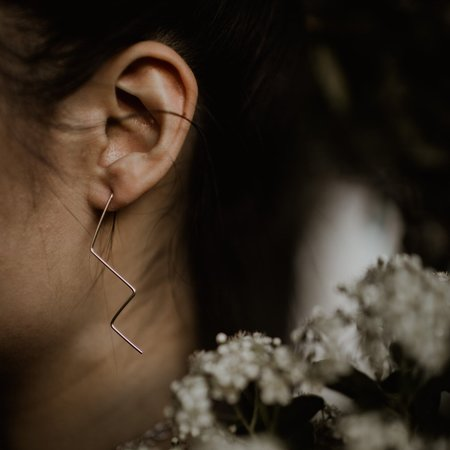 Emily's The Zig Zag Earring - Sterling Silver