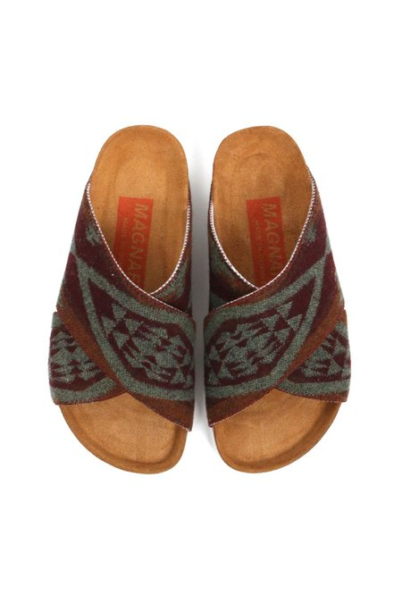 Magnafied Una Crossover Sandals - Sage Diamond