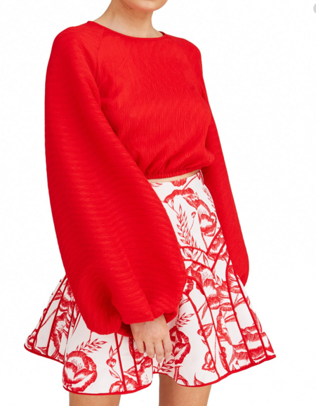 C/meo Collective Comes in Waves Top - Red