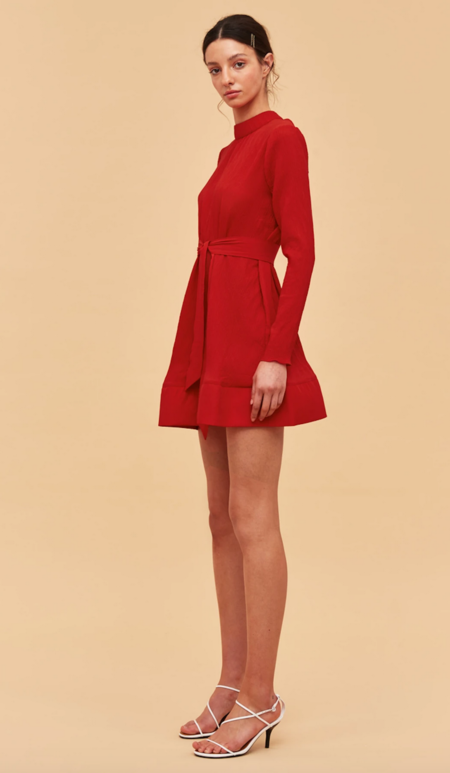 C/meo Collective Comes Waves Dress - Red