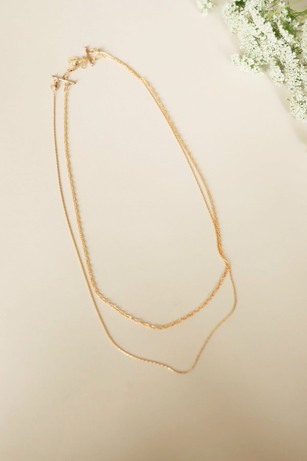 MOD + JO Josephine Layered Gold Chain Necklace - Gold