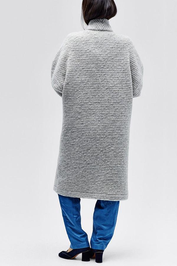 Horses Atelier Patch Pocket Long Jacket | Grey