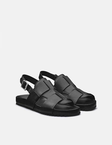 Grenson Wiley Leather Sandal - Black
