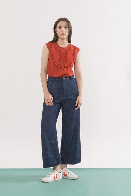 Jennifer Glasgow Trousers Denim - Agnes