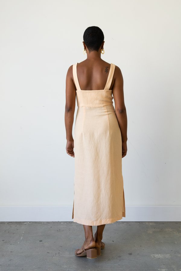 Waltz Bralette Dress in Apricot