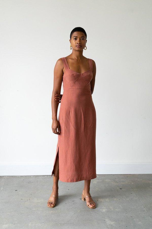 Waltz Bralette Dress in Cinnamon