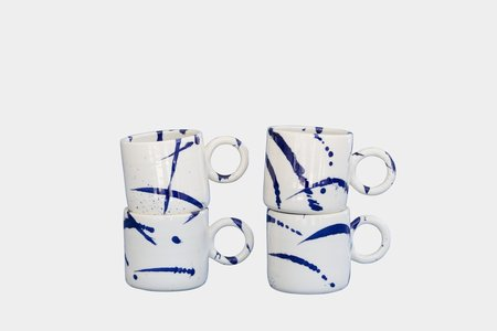Earl Home splatter tapered mug - indigo