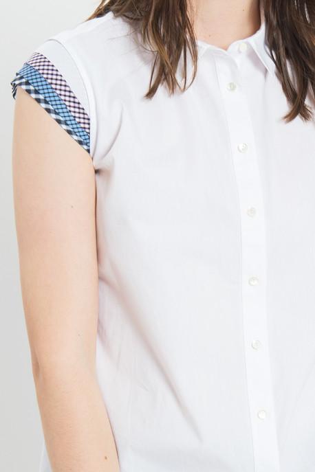 Rhié - Cap Sleeve Blouse in White