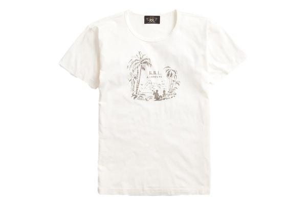 RRL Tropical-Print Jersey T-Shirt